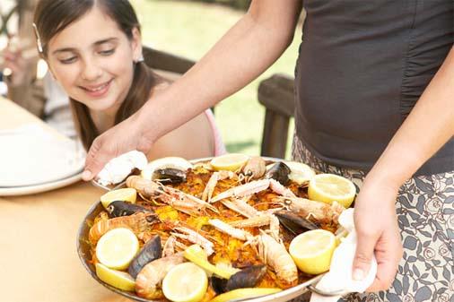 Healthy Seafood Paella,Seafood Paella,Healthy,Fat,healthy ,