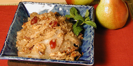 Pear Crumble ,Healthy Recipe, pear fruit