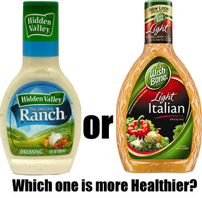 Which one is more Healthier Ranch Dressing or Italian?