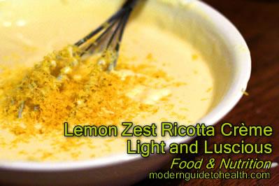 Lemon Zest Ricotta Crème