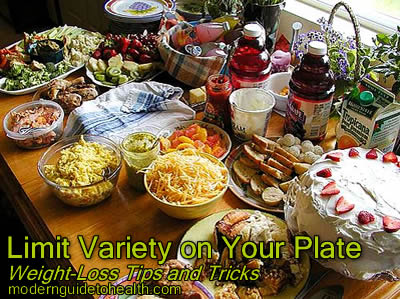 Weight-Loss Tips and Tricks: Limit Variety on Your Plate