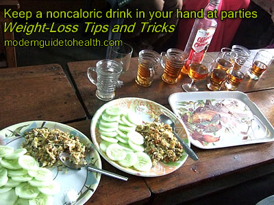 Weight-Loss Tips and Tricks: Keep a noncaloric drink in your hand  at parties