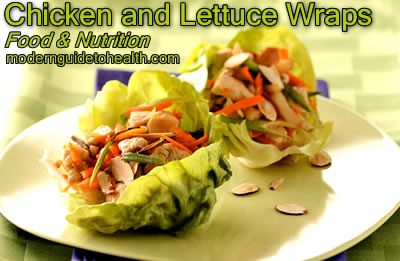 Chicken and Lettuce Wraps