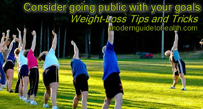 Weight-Loss Tips and Tricks: Consider going public with your goals