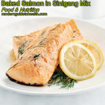 Healthy Recipe Baked Salmon in Sinigang Mix