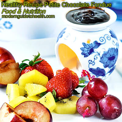 Healthy Recipe Petite Chocolate Fondue