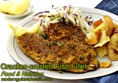 Healthy Recipe Freeze and Fry - Cracker-crusted Fish Fillet