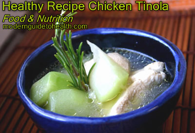 Healthy Recipe Chicken Tinola