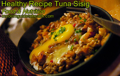 Healthy Recipe Tuna Sisig