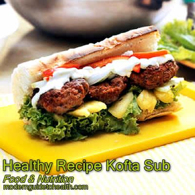 Healthy Recipe Kofta Sub