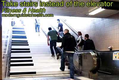 Weight-Loss Tips and Tricks Take stairs instead of the elevator
