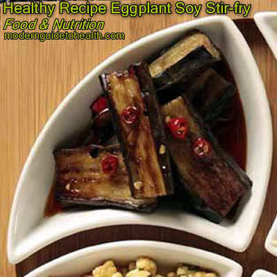Healthy Recipe Eggplant Soy Stir-fry