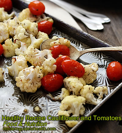 Healthy Recipe Cauliflower and Tomatoes