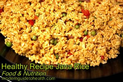 Healthy Recipe Java Rice