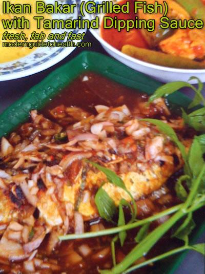 Ikan Bakar (Grilled Fish) with Tamarind Dipping Sauce