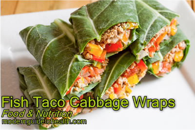 Healthy Recipe Fish Taco Cabbage Wraps