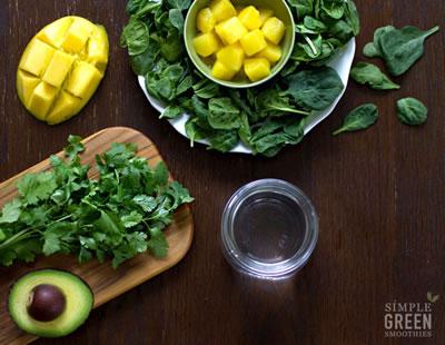 Healthy Recipe Cilantro Mango Detox