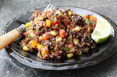 Healthy Recipe Quinoa and Black Beans